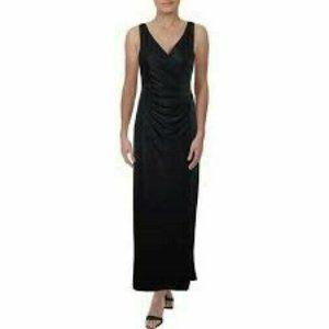 Lauren Ralph Lauren Noria Navy Ruched Gown Dress